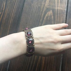 Icing Plum and Gold Bracelet